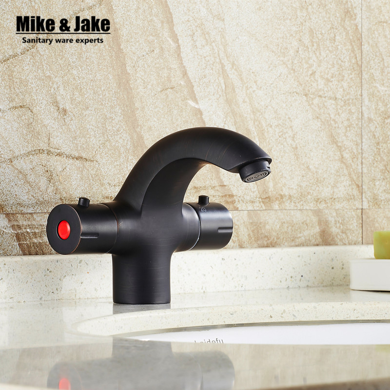 Thermostatic black basin mixer bathroom thermostatic basin faucet water mixer tap thermostatic mixer MJSY045 bathroom basin faucet thermostatic bathroom crane water tap mixer with hand shower