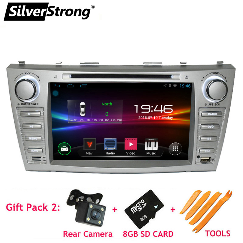 SilverStrong 2din Android Car DVD for TOYOTA CAMRY Aurion CAR DVD CAMRY v40 GPS CAR RADIO DVD Navigation 1024*600 цена