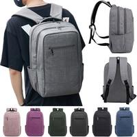 Student Schoolbag Mutli function Solid Color Travel Backpack For Macbook Pro 13 15 inch Laptop Bag Backpack