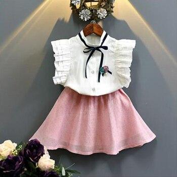 Conjunto De Ropa Para Niñas 2019 Nuevos Vestidos Bonitos Para Niñas Vestidos De Color Sin Mangas De Algodón Vestidos De Verano Para Niñas Lindas