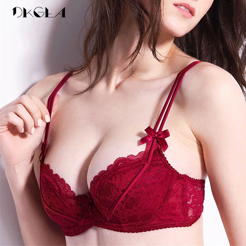 Plus Size 38 36 D Cup   Bras   Push Up Women Lingerie Pink Sexy   Bra     Set   Thin Cotton Underwear   Set   Lace Brassiere Black Embroidery