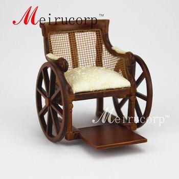 Dollhouse Fine 1:12 scale miniature furniture Hand made Disabled wheelchair 1 12 scale fine dollhouse miniature furniture white cabinet
