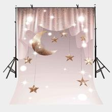 150x220cm Photography Background Millennium Pink Curtain Backdrop Hanging Stars Moon Studio Props