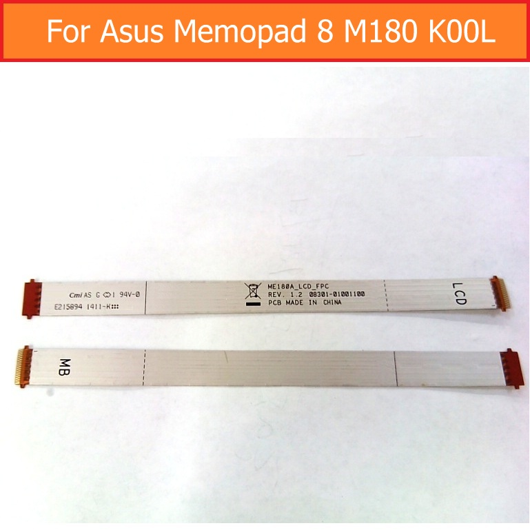 Best quality LCD Display Flex Cable For Asus MeMO Pad 8 ME180 K00L ME180A ME180A Main Board module with Flex Cable Replacement new 8 inch tablet case for asus memo pad 8 me180 me180a digitizer touch screen with lcd display assembly frame free shipping