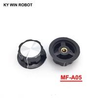 potentiometer knob 2pcs/lot MF-A05 A05 Potentiometer Knob Cap Inner 6mm 45x20mm Rotary Switch Bakelite Knob copper core inner for WHT118 WX050 (1)