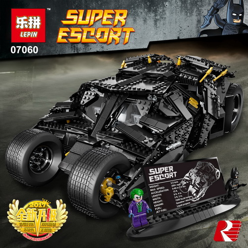 LEPIN 07060 Genuine Super Hero Movie Series The Batman Armored Chariot Set 76023 Educational Building Block Brick Boy Toys Gifts lepin 07060 super series heroes movie the batman armored chariot set diy model batmobile building blocks bricks children toys