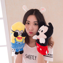 Hot Cartoon Minions Shaun Sheep Metoo Stitch Plush Finger Puppets Lovely 25cm Animal Plush Puppet for Baby Toys Hand Puppet Gift