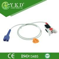 Hot Sale Reusable Nellcor SpO2 Sensor Adult Finger Clip 1m 7Pin with CE ISO13485