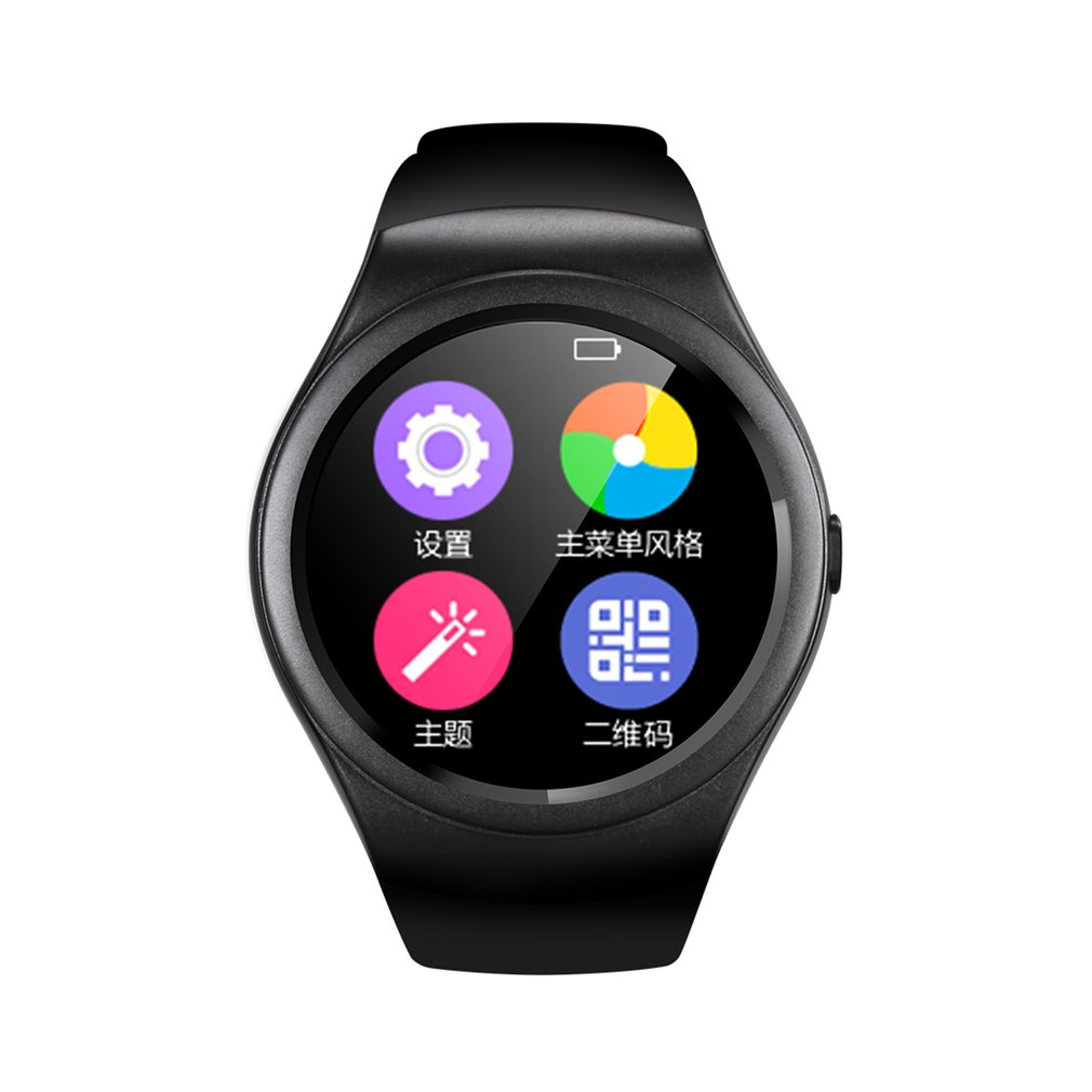 Multifunctional Bluetooth Smart Watch Touch Screen Watch 1.3 Inch IPS Screen Sport Fitness Pedometer Esportes SIM TF Card цена и фото