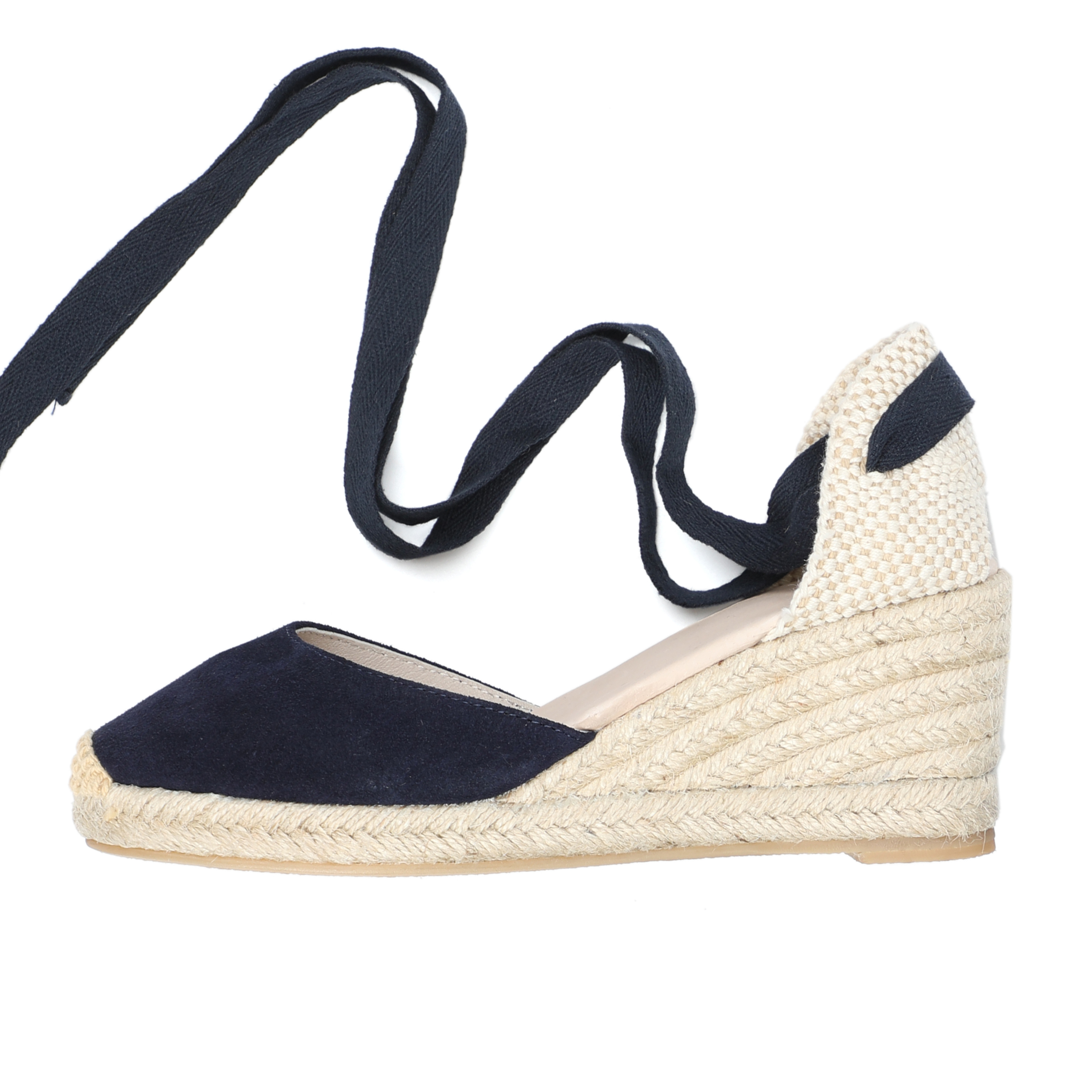 2019 new arrivel 70mm wedge espadrilles D Orsay women spring espadrilles genuine leather