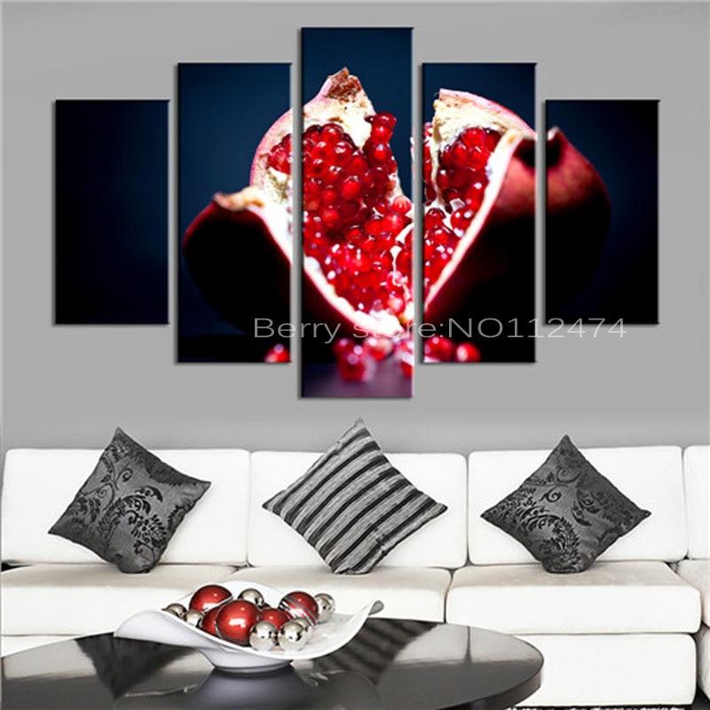 Diy 5pcs/Set Fruit pomegranate Modern home Decor,Diamond Mosaic 3d diamond Painting cross stitch,5d diamond embroidery crafts