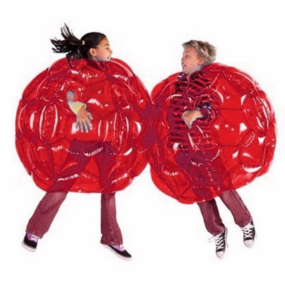 2 צבע מתנפח גוף פגוש כדורי בועת כדורגל חליפות הרבה לסביבה ידידותי PVC מצחיק גוף זורבה כדור לילדים