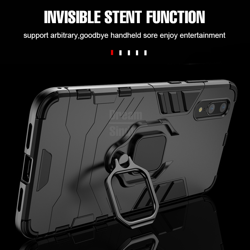 Image 5 - For Huawei P30 P20 Mate 20 Pro Lite 9 10 Nova 3 3i 4 Luxury Armor Finger Ring Case For P Smart Y6 Y7 Y9 2019 Phone Cover Case-in Fitted Cases from Cellphones & Telecommunications