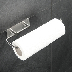 Stainless Steel Wall Mount Horizontal Paper Towel Holder Kitchen Paper Towel Rack Dispenser Rack for Tissue Roll for Home Bar