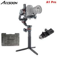 Accsoon A1 Pro 3-Axis Беспроводной передачи изображения ручной шарнирный стабилизатор для камеры GoPro Для беззеркальных цифровых зеркальных фотокам...