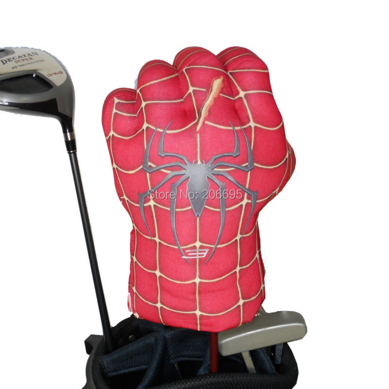 Headcover Animal Animal për kokën Fairway Wood ose Hybrid Golf Club, Doreza e boksit Spider