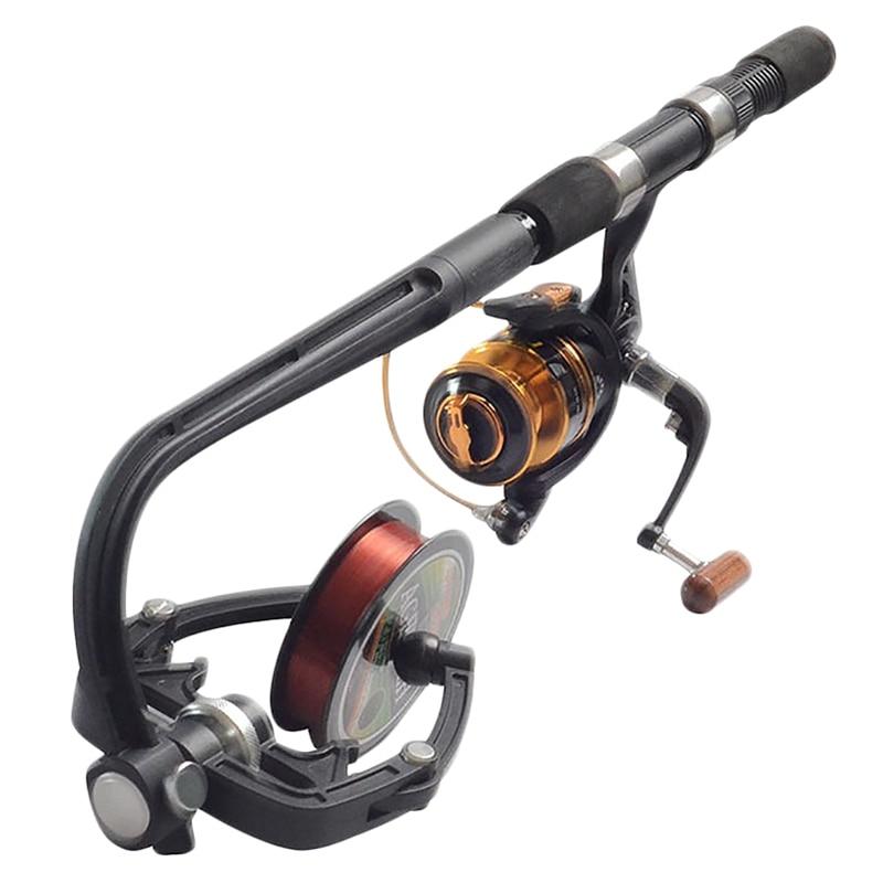 Linha de pesca Winder Máquina Portátil Spinning Reel Sistema de Fiação Linha de Carretel