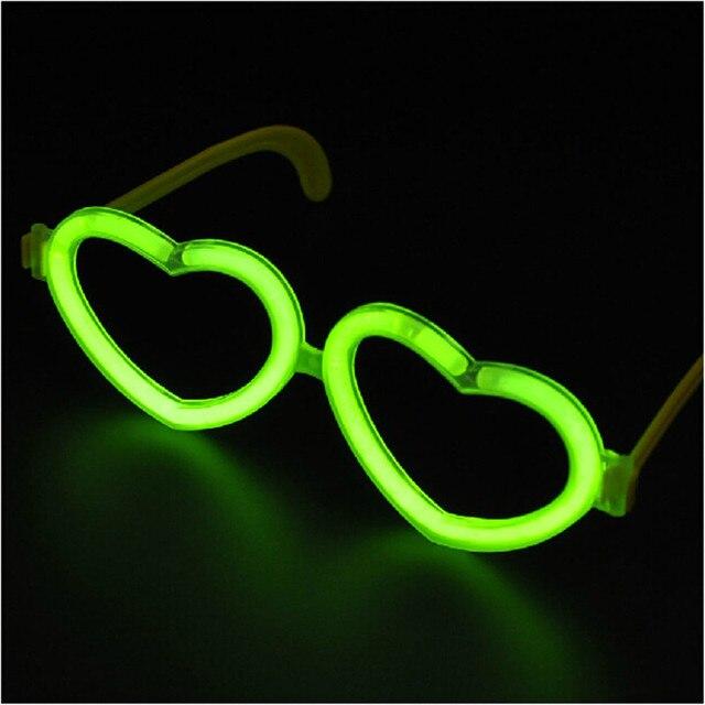20pcs/lot Luminous stick accessories plastic glasses frame heart ...