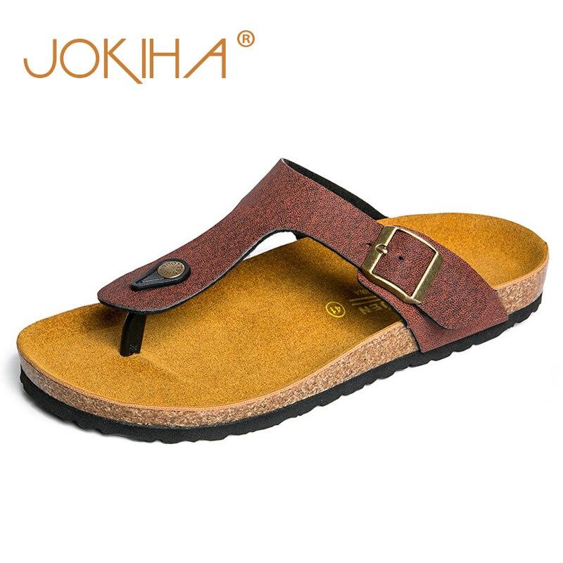 906986ee523209 2019 Summer Men s Casual Sandals Beach Cork Slippers For Men Brown Fashion  Anti-Slip Flip