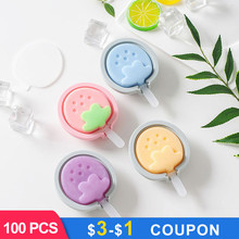 DIY Silicone Popsicle Molds Ice Cream Mold Maker Holder Frozen Mould with Sticks Lid Kitchen Tool Summer