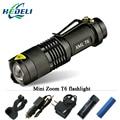 Mini cree xm l t6 led Powerful flashlight torch led lanterna zoom 3000 lumens 5 mode lamp 18650 rechargeable battery