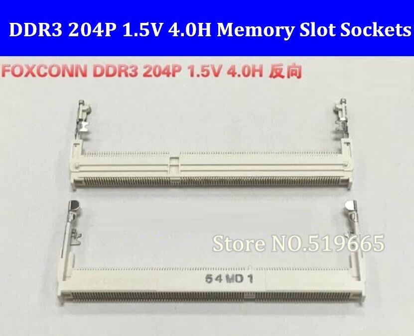 Foxconn DDR3 204P 1.5V 4.0H Connectors Laptop Memory Slot Sockets 204PIN Reverse