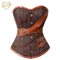 Fashion Sexy Retro Waist Steel Boned Corsets Women Steampunk Corset Waist Cincher Brocade Bustiers for Women Gifts S-2XL