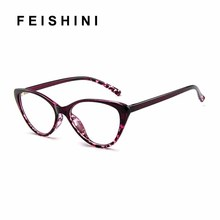 2019 Spectacle frame Black Cat Eye Glasses Frame Women brand Clear Lens Eyewear frames Ladies Myopia Nerd BLUE eyeglasses