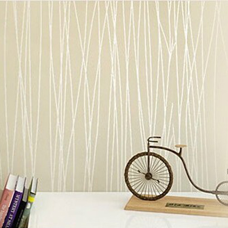 Stripe Wall Paper Flock Print Solid Color Plain 3d Wallpaper Murals Fashion Rustic Background Papel De