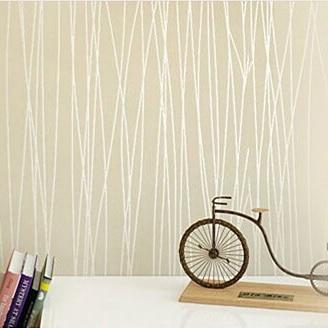 Stripe Wall Paper Flock Print Solid Color Plain 3d Wallpaper Murals Fashion Rustic Background Papel De