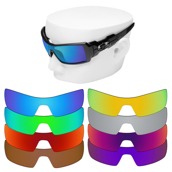 OOWLIT Polarized Replacement Lenses For-Oakley Oil Rig Sunglasses
