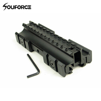 Triple Lateral Superior Plana de 11mm/20mm Weaver/Picatinny Rail Carry Handle Mount Fit 223 Rifles para 20mm Rail