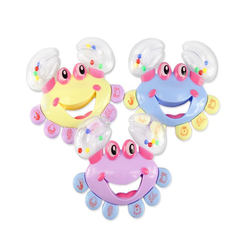 Kids Baby Toys Rattls Crab Design Toys for Newborns Children Cartton Handbell Mobile Musical Jingle Shaking Educational Toys