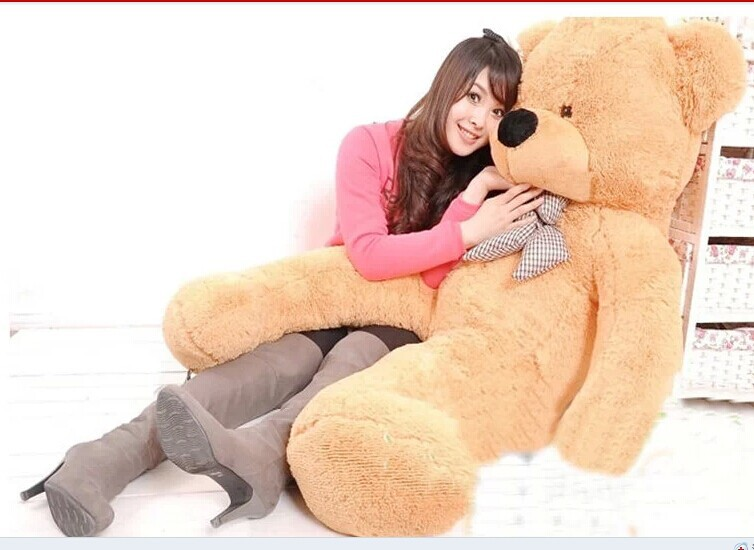 цена на Stuffed animal 180cm light brown Teddy bear plush toy soft doll throw pillow gift w2065