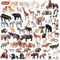 Oenux моделирование лев тигр медведь панда Зебра кошка поросенок животное фигурка дикие фигурки животных Модель Коллекционная игрушка подар...