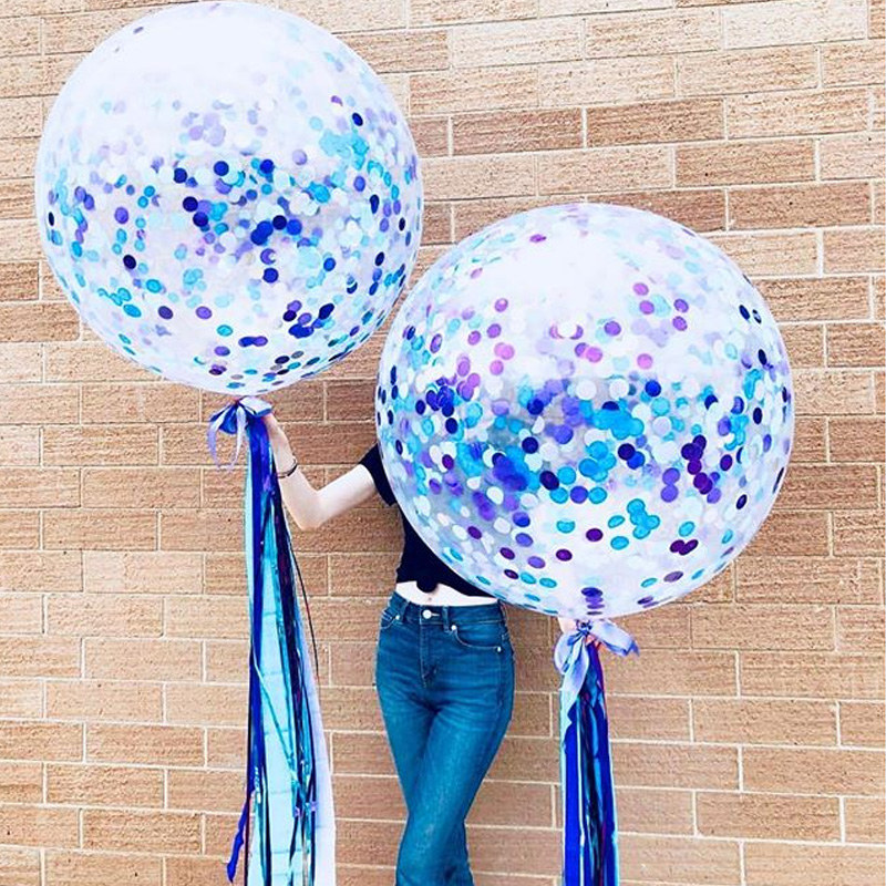 5 pieces of 12-inch color sequined balloon toy children's party toy hat decoration toy balloon стоимость
