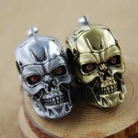 Buona Qualità 7 cm Hot Movie The Terminator Metallo 3D Del Cranio Giocattolo portachiavi Chaveiro Portachiavi Porta Porte Clef Anillas Llavero giocattolo