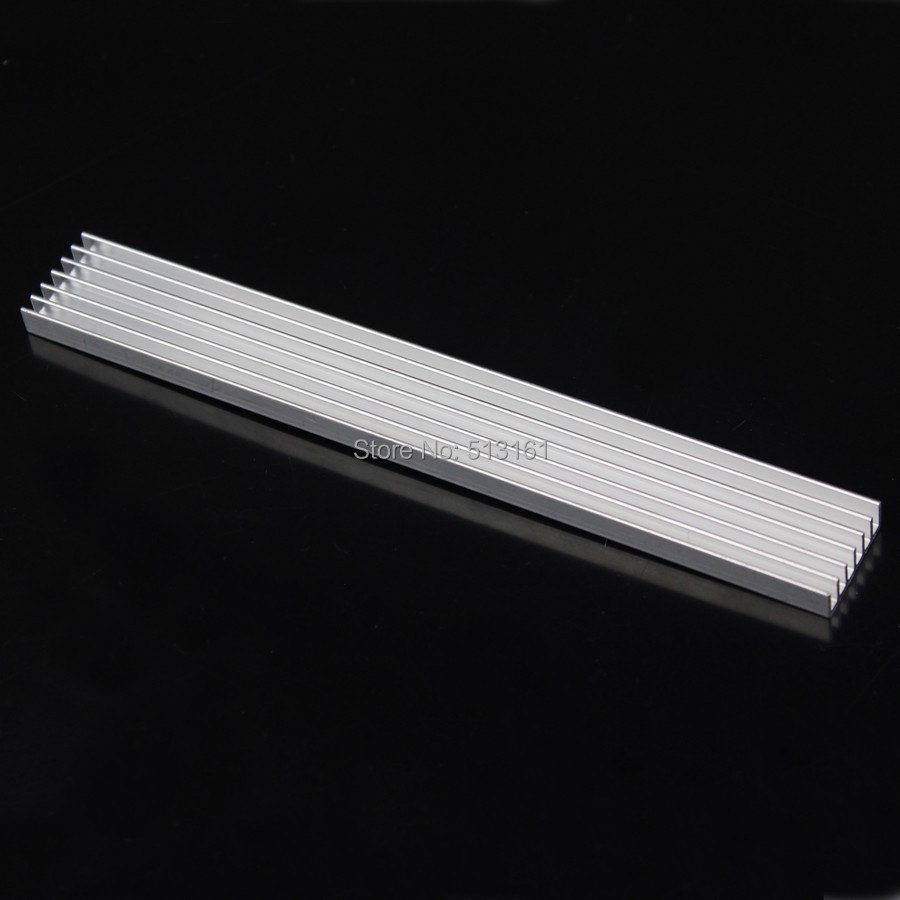 5pcs lot 150x20x5mm Aluminum Heatsink For LED IC Chip Heat Sink 150mm in Fans Cooling from Computer Office