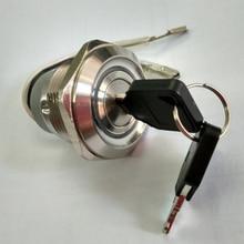 цена на 30mm 2 Position Remain Metal 12V Red led key lock Metal switch + free shipping