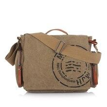 Vintage Men's Messenger Bags Canvas Shoulder Bag Fashion Men Business Crossbody Bag Printing Travel Handbag 1124