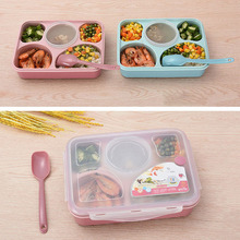 2019 1PC Lunch Box Microwave Tableware Bento Food Container Health Natural 5 Grid Student Portable Storage Plastic
