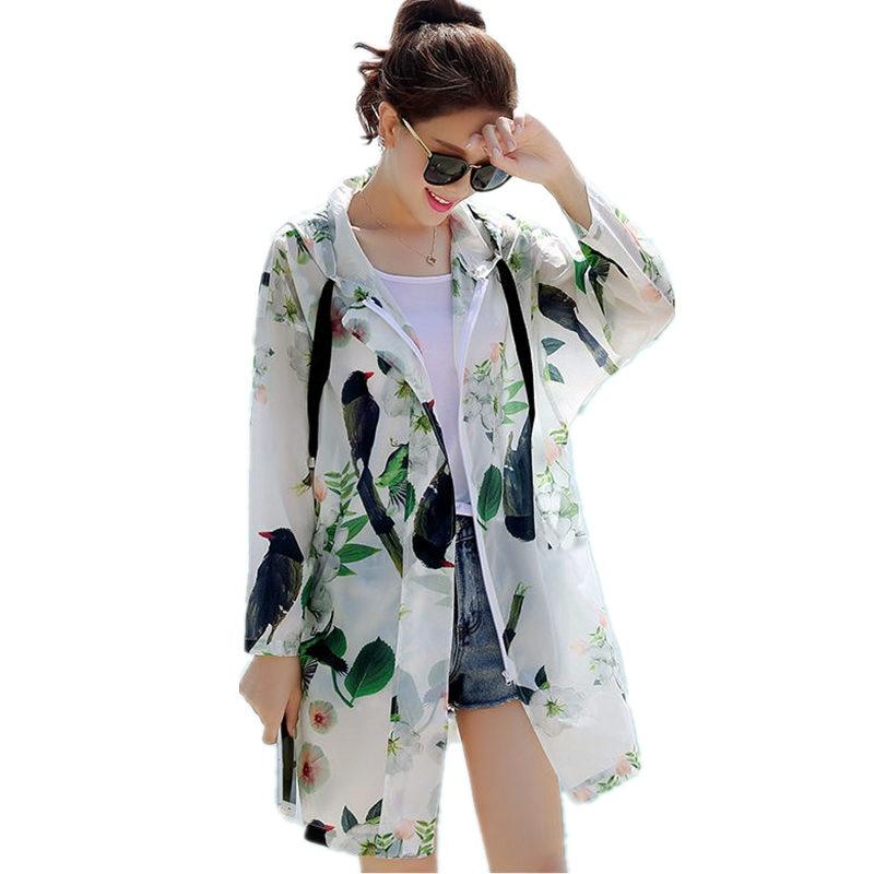 Spring Summer Jacket Women Sun Protective BF Style Women Coats