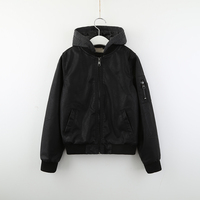 Boys Winter Faux Leather Hooded Jacket Kids Teen Bomber Jacket Outerwear Coat Wholesale Lots Bulk Fashion Children Clothes Black
