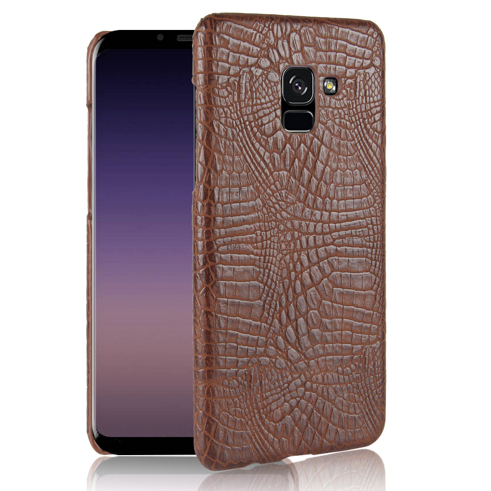 For Samsung Galaxy A5 2018 Case Luxury Crocodile Skin Hard Cover For Samsung Galaxy A5 2018 A5300 Case for Samsung A5 2018 in Fitted Cases from Cellphones Telecommunications
