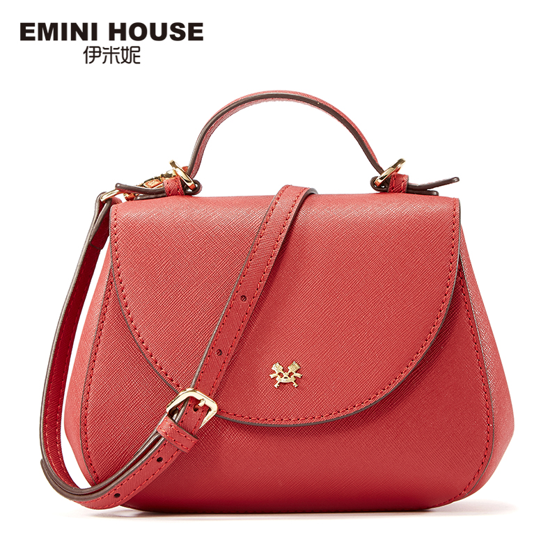 EMINI HOUSE Saddle Bag Ladies Split Leather Women Messenger Bags Shoulder Bag Crossbody Bags For Women Luxury Leather Handbags emini house indian style bag women messenger bags split leather crossbody bags for women shoulder bag chic chain original design