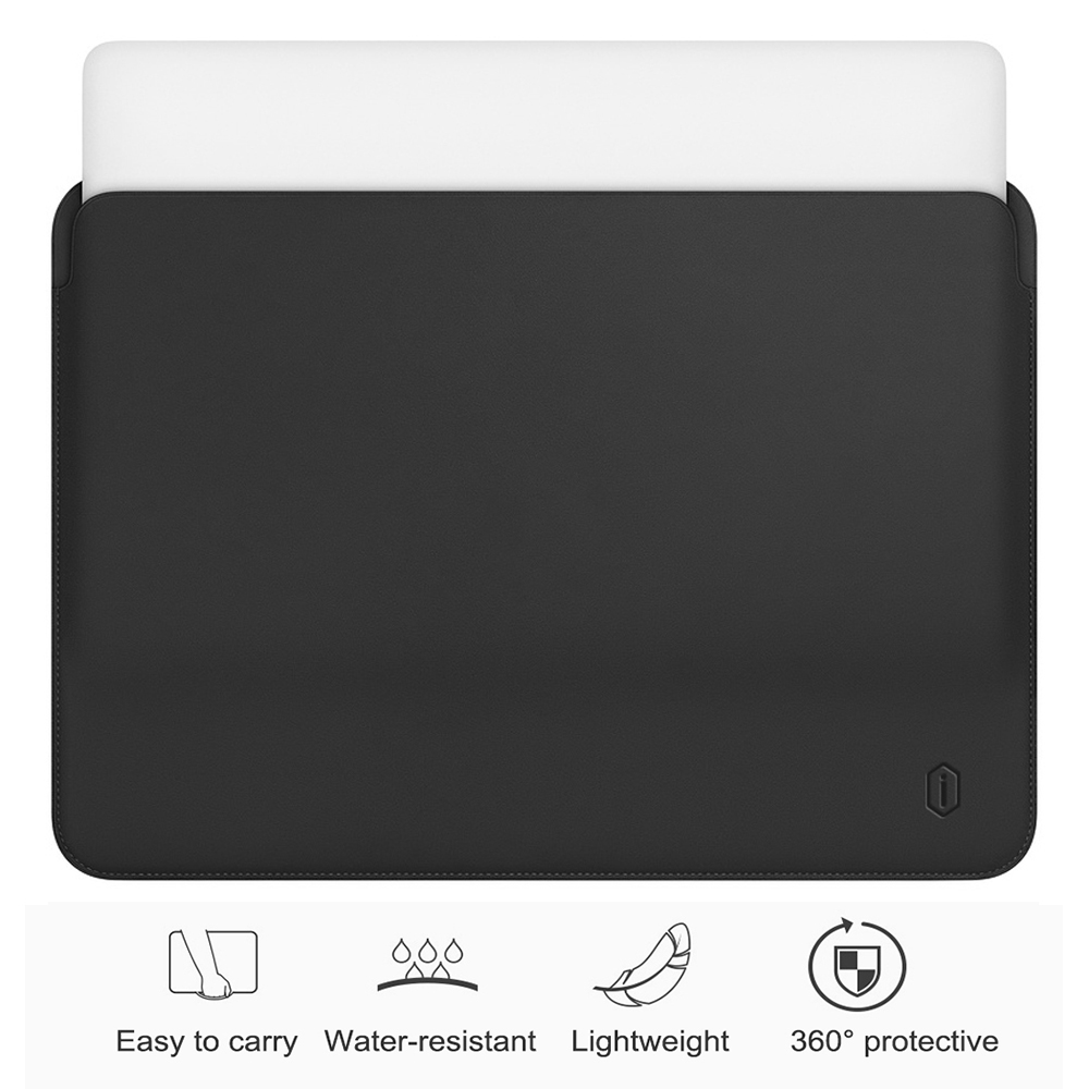 WiWU PU Leather Bag for MacBook Pro 13 Sleeve Ultra thin Laptop Case for MacBook Pro 15 Water resistant for MacBook Air 13 Case