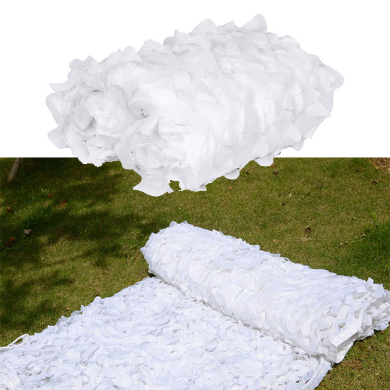 Military Snow White Netting Sun Shelter Hunting Camping Car Drop Net Outdoor Wedding Party Decoration Photograph Balcony Netting image