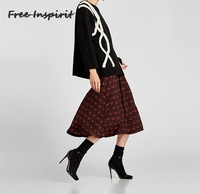 Free Inspirit 2018 New Fashion Spring Autumn ZARA A Loose Knit Sweater Women The Wind Of