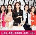 L, XL, XXL, 3XL, 4XL, 5XL 2016 New Plus Size Mulheres Blazers Casacos Feminino Senhora terno Jaquetas Escritório Desgaste do Trabalho Preto, Branco, Rosa, Laranja