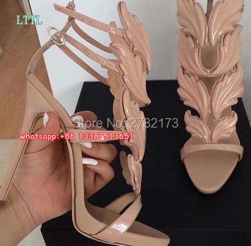 2017 New Luxury Suede Summer Shoes Woman Leaf Winged Gladiator Sandals Women 120mm High Heels Women Sandals Platform Wedge Shoes phyanic 2017 gladiator sandals gold silver shoes woman summer platform wedges glitters creepers casual women shoes phy3323